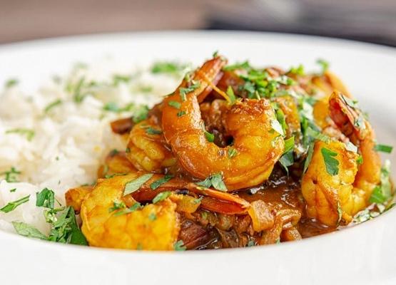 Main shrimps course